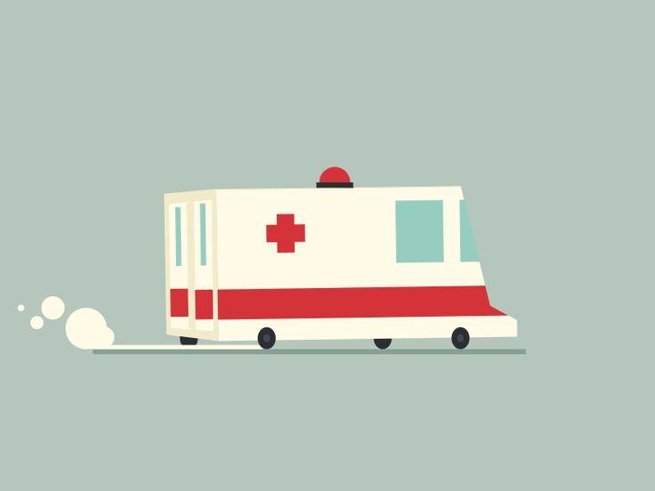 Ambulance | Animated icon by Tony Pinkevich