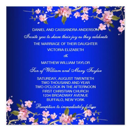 302 besten Cobalt Blue Wedding Invitation Bilder auf Pinterest
