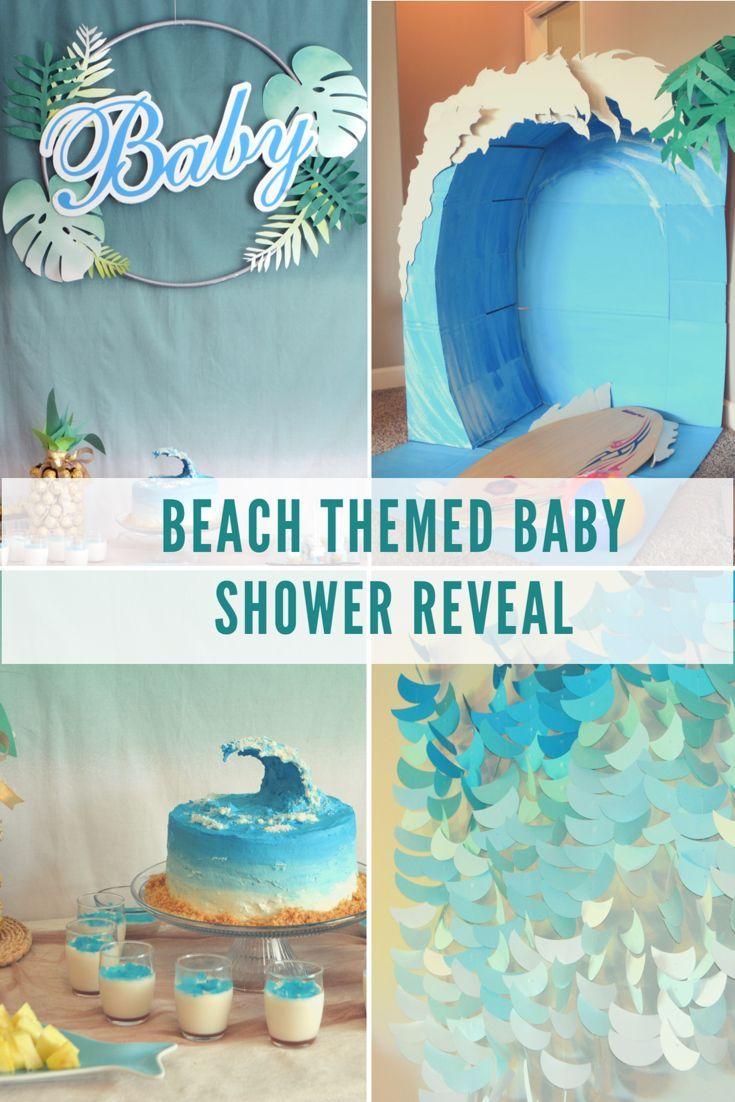 Beach Themed Baby Shower Beach Baby Showers Surfer Baby Shower