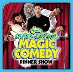 The Outta Control Magic Comedy Dinner Show provides a one-of-a-kind entertainment experience for with non-stop audience participation. The crowds don't just watch the show, they become part of it. Visitors receive table side service with unlimited fresh hand-tossed cheese and pepperoni pizza, salad, popcorn and unlimited beer, wine, soda and dessert. The 90-minute experience will keep you on the edge of your seat and tickle your funny bone every 8 seconds.  Located 20 min from Caribe Royale.