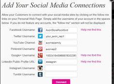Emily Seagren's Top 8 Avon Online Marketing Tips - add your social media connections on your Avon website. http://www.makeupmarketingonline.com/emily-seagrens-top-avon-online-marketing-tips/
