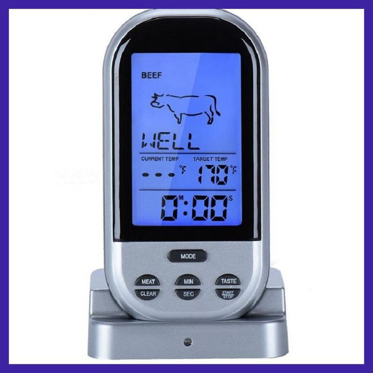 Plastic Wireless Didital LCD Remote Thermometer For Grill Meat Kitchen Oven Food BBQ Tools termometro horno