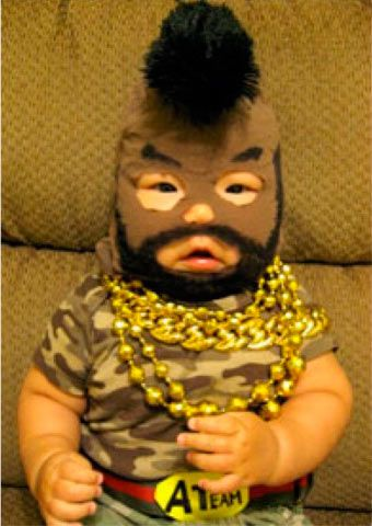 I pity the fool whho put the Asian baby in this costume!!