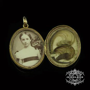 The delicacy of the placement of hair in this 15ct yellow gold Victorian locket is amazing. #thefrenchjewelbox #victorianlocket #theblockarcade The French Jewel Box - Google+