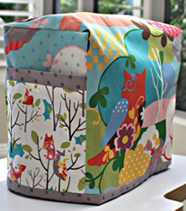 Love this cute sewing machine cover! #sewjoann: Covers Tutorials, Toaster Ovens, Sewing Machines, Machine Cozy, Crafts Rooms, Easy Quilts Tutorials, Tutorials Sewing, Sewing Machine Covers, Covers For Sewing Machine