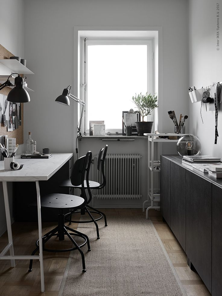 A Nice Home Office Makeover by IKEA Stylists | Poppytalk