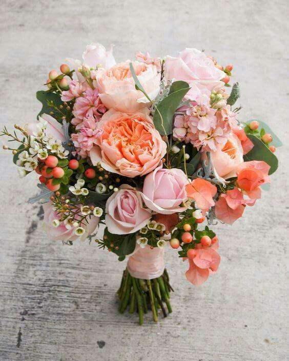 147 Best Images About Peach And Coral Bouquets On