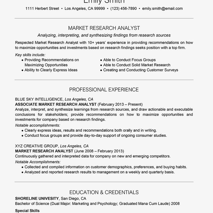 Application support analyst resume fresh market research