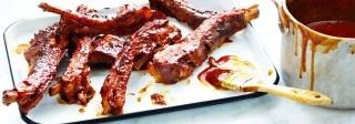 Côtes de porc braisées avec glaçage barbecue de Campbell du Canada