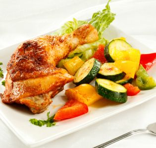 Recipes/Dinner/Baked Avocado Chicken and Vegetables | Zone Diet | Home of Anti-Inflammatory Nutrition