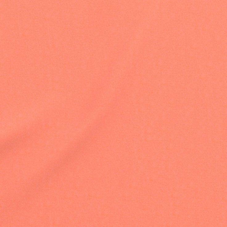 5,99€/m - Tissu coton uni Cristina corail clair