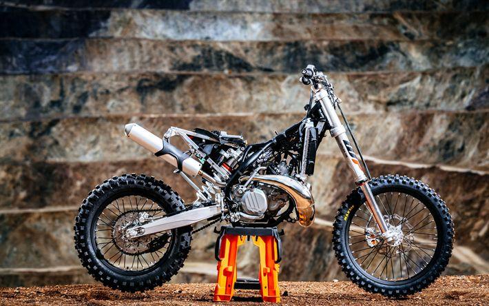 Télécharger fonds d'écran KTM EXC TPI, 2018 vélos, crossbikes, superbikes, KTM