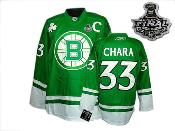 Bruins 2011 Stanley Cup Finals St Patty's Day #33 Zdeno Chara Green Youth Stitched NHL Jersey NEW SALE PRICES ON JERSEYS