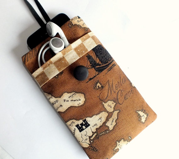 iPhone 5 Old World Map Sleeve POCKET Cover by VintageFabricFinds, $16.00