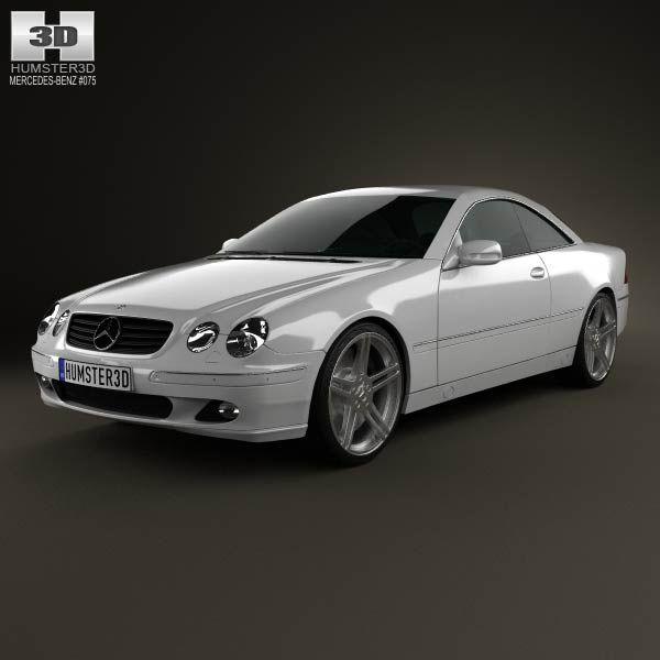 Mercedes-Benz CL-Class (W215) 2006 3d model from humster3d.com. Price: $75
