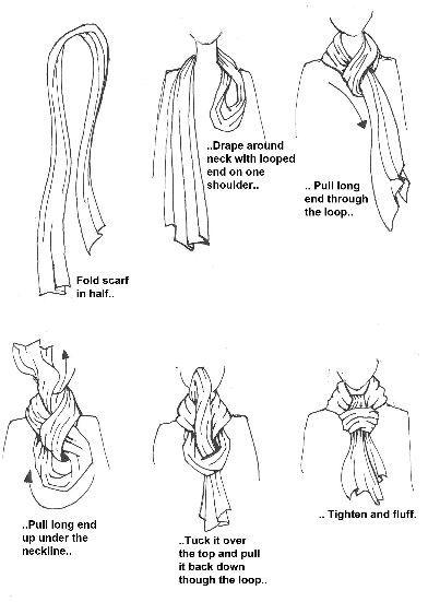 Comment porter une écharpe légère
