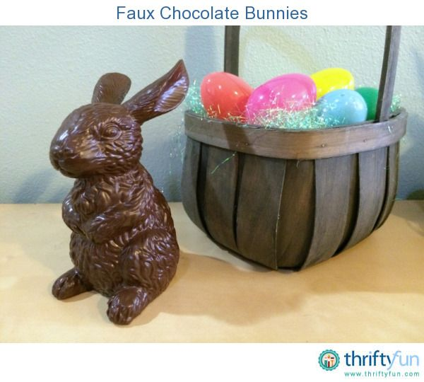 125 best easter crafts images on pinterest easter crafts plastic making faux chocolate bunnies negle Image collections