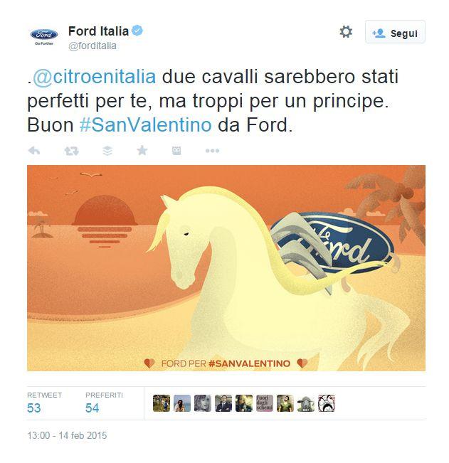 Gli auguri di San Valentino speciali di Ford ai competitor