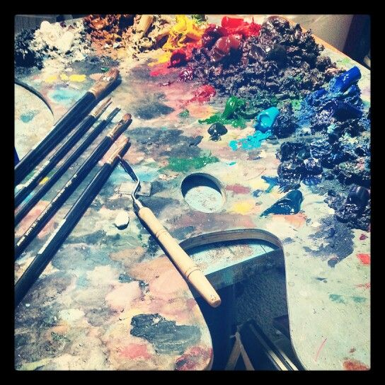 Palette of an artists hues