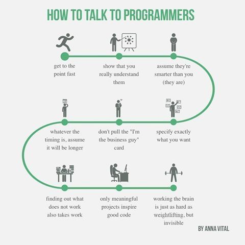How to talk to programmers ;-)