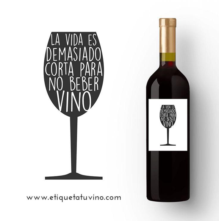 Vino personalizado para los amantes del buen vino.