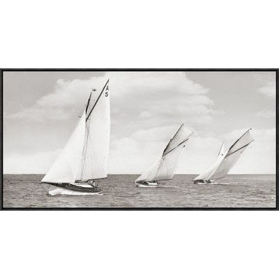 Global Gallery Sloops Racing,1926 Framed Painting Print Photographic Print on Canvas Size: 1