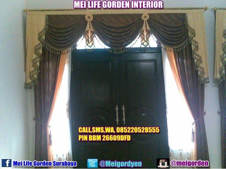 gorden untuk pintu utama yang berdaun dua