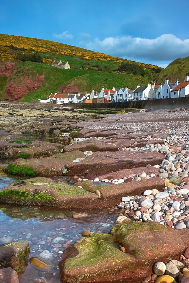 Pennan Village in Aberdeenshire
