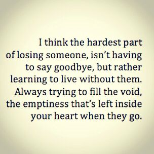 Quote about loosing someone you care about.
