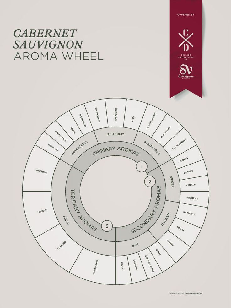 Cabernet Sauvignon grape variety wine aroma profile wheel flavors fruit spices Social Vignerons #Wine #Winetasting #Wineeducation