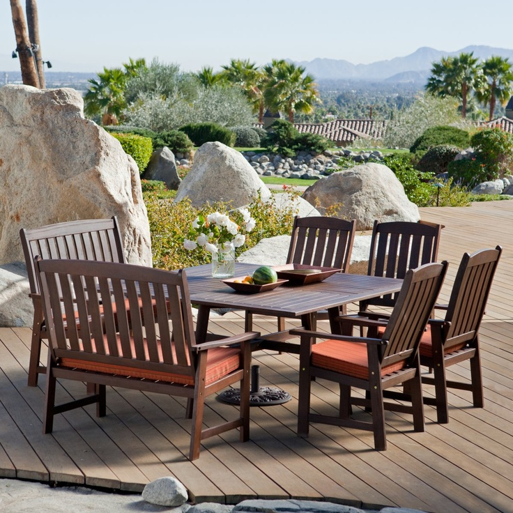Cabos Collection Square Patio Dining Set   Seats 8   Patio Dining Sets At  Hayneedle