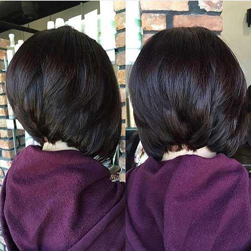 Short Stacked Bob Haircut
