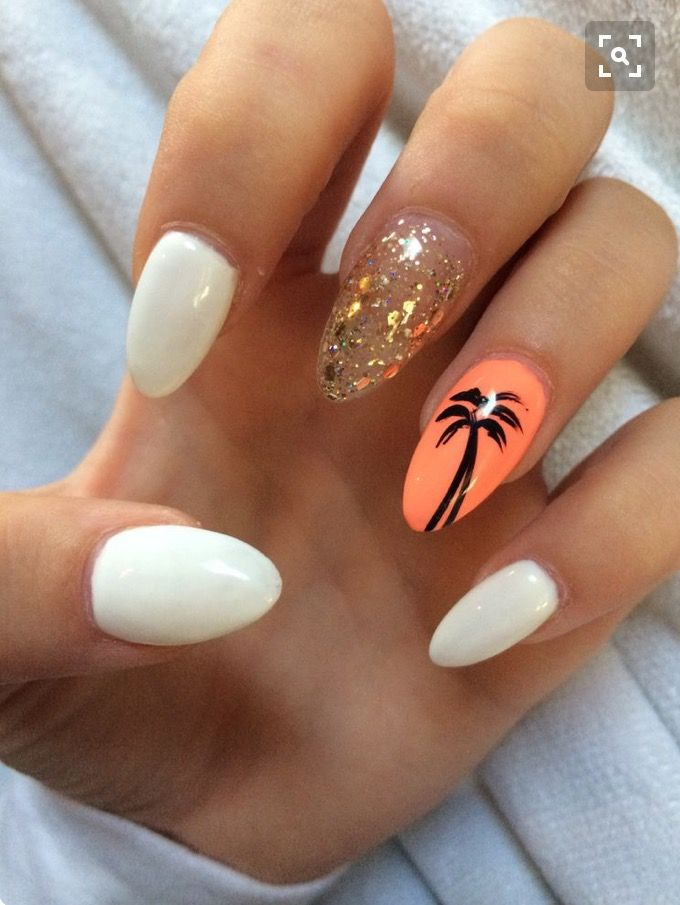 Cruise palm tree nails