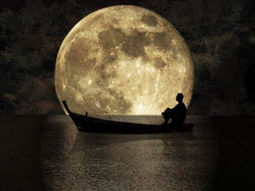 When the moon hits your eye thats  amore: Spiritual Quotes, Oscars Wild Quotes, Moon, Alone Time, Fullmoon, Boats, Beautiful, Full Moon, Moon Rivers