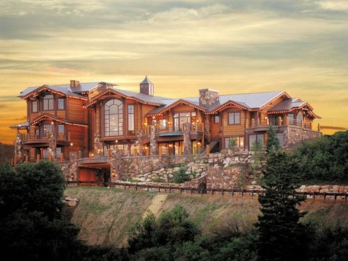 Log Cabin Mansions ~ Deerfield estates log mansion nice homes pinterest