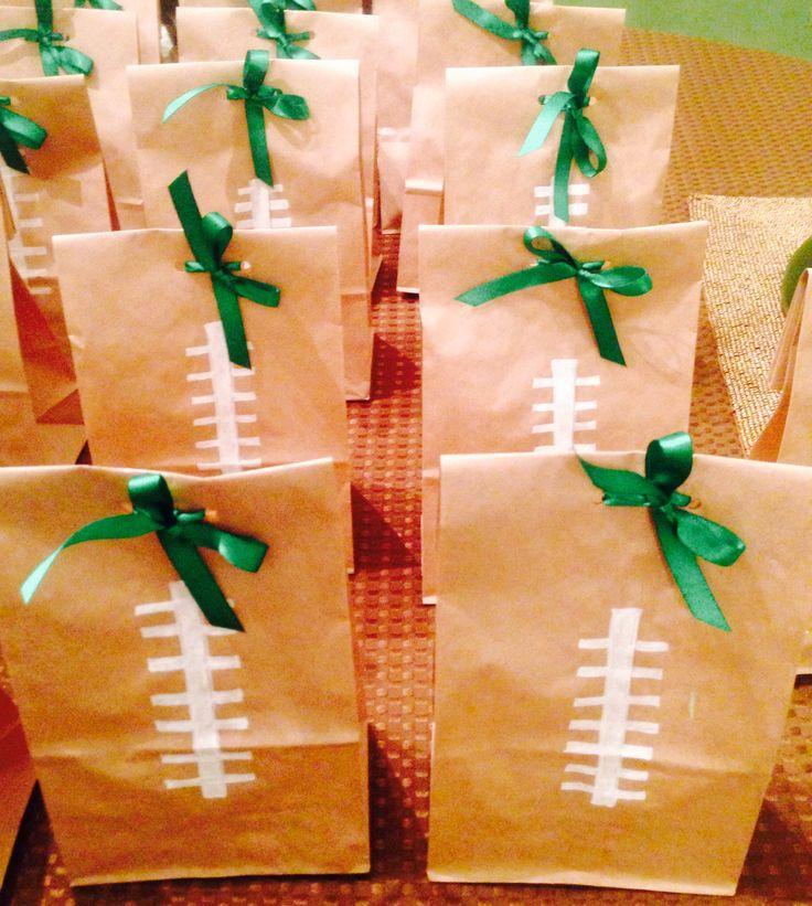 Football theme goody bags