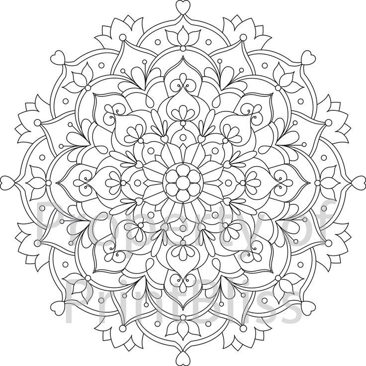 29 Flower Mandala Printable Coloring Page By Printbliss