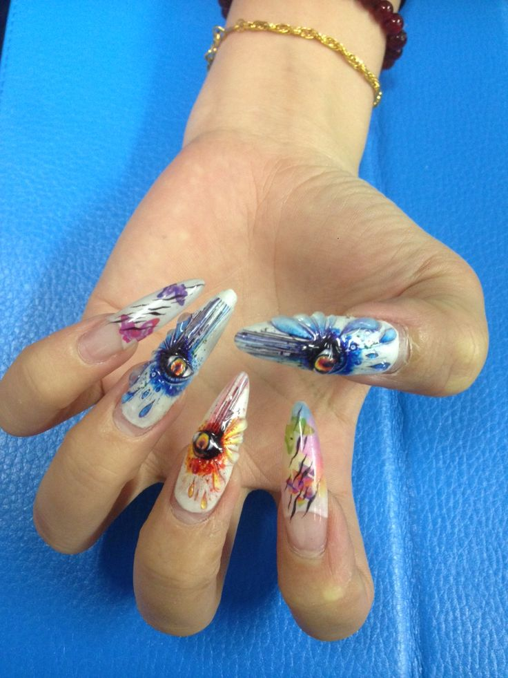 3D nail art by Tink'd! Print on your nails ask your local nail salons 'Get Tink'd'