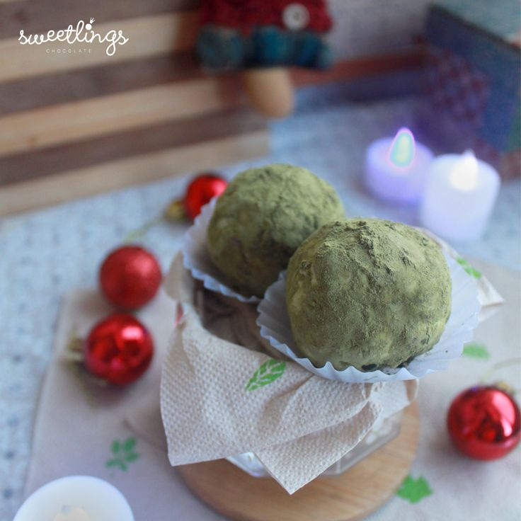 Matcha Truffles  ---  Hey sweeties!  We are Sweetlings, the newest Truffle Makers in town. With a wide variety of sweet chocolate goodness, we'll be giving you sugar, spice and everything nice!  We give chocolates endless possibilities!  Keep posted for updates on our facebook and instagram page on how to avail sweetlings chocolate truffles and more!  Have a sweet day, Sweeties. ;)  Sweetlings Chocolate Truffles  Manila, Philippines