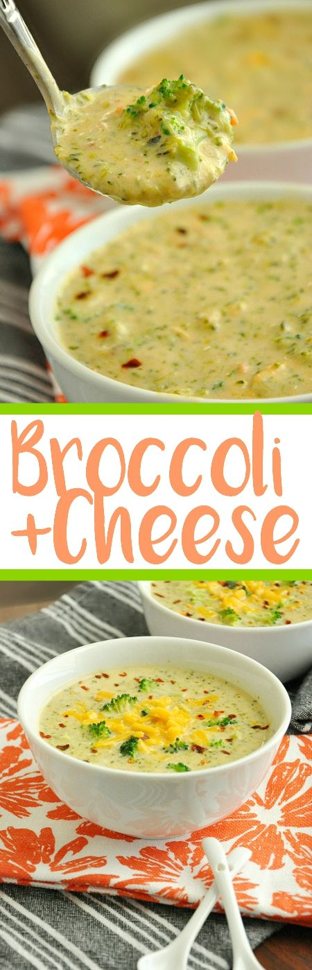 Delicious Broccoli and Cheese Soup that's quick, easy, & all from scratch! This homemade Panera Bread copycat is the best! Filling & flavorful!