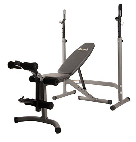(adsbygoogle = window.adsbygoogle || []).push();     (adsbygoogle = window.adsbygoogle || []).push();   buy now   $163.98  The Body Champ Olympic Weight Bench accommodates Olympic weight sets and enables you to choose from workouts such as leg lifts, chest presses and military presses....