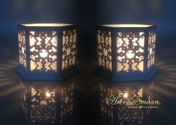 Check out this item in my Etsy shop https://www.etsy.com/listing/175426790/a-pair-of-islamic-geometric-lanterns