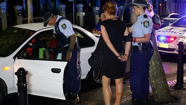 Arresting sex worker Michelle