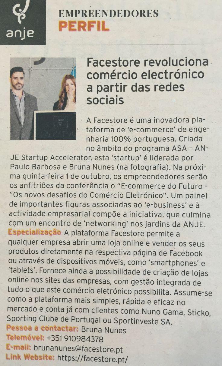 A Facestore em notícia hoje no Diário Económico