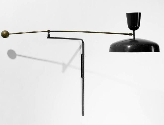 Wall Mounted Cantilever Lamp : Pierre Guariche Wall mounted adjustable cantilever arm light in black l.i.g.h.t Pinterest ...