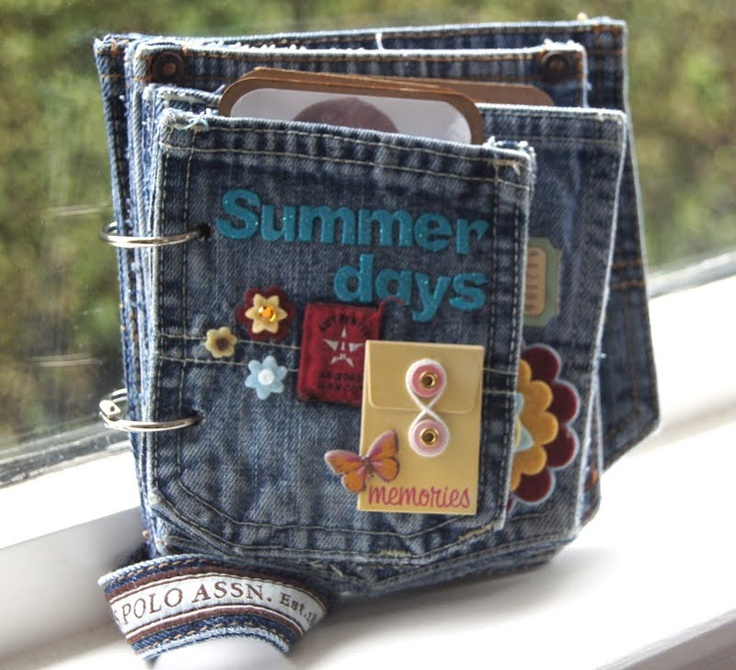 My daughter always has the cutest jeans... Save them for this project... Scrappy Pants: Scrapbook Ideas, Pockets Album, Frostings Design, Minis Album, Fresh Expressions, Cute Ideas, Minialbum, Pockets Minis, Jeans Pockets