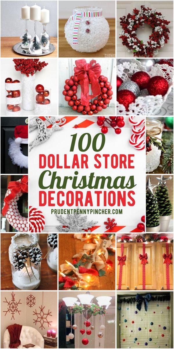 100 Diy Dollar Store Christmas Decor Ideas In 2020 Dollar Store Christmas Decorations Dollar Store Christmas Crafts Dollar Tree Christmas Decor