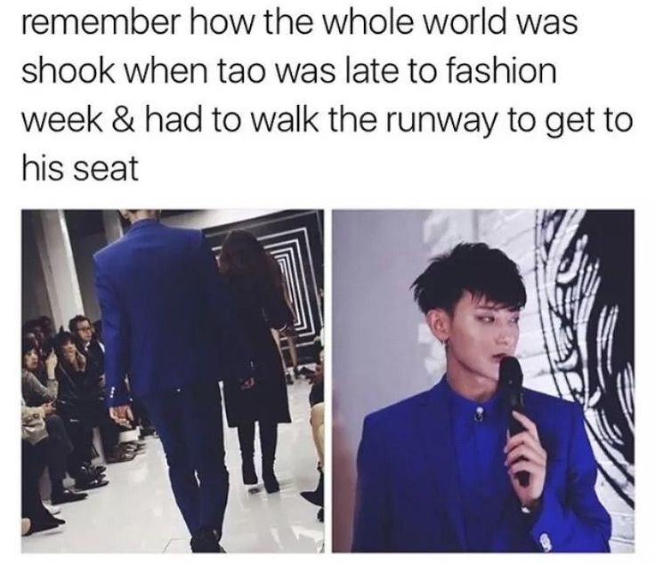 Hahahah aww Tao that's what you get for being late