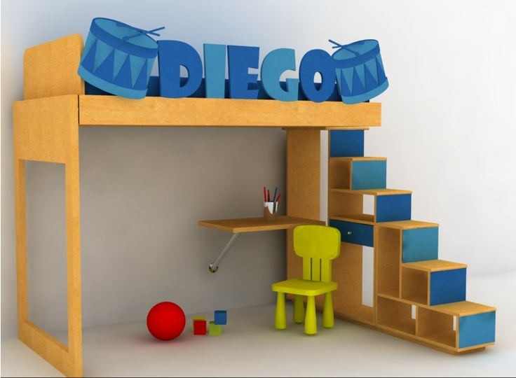 8 best muebles infantiles images on pinterest child room - Literas infantiles con tobogan ...