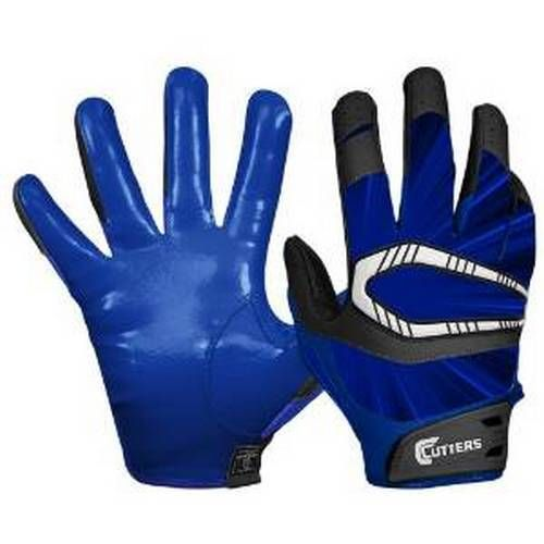Cutters Gloves REV Pro Receiver Football Gloves (Pair), Royal Blue Adult: Small #Cutters